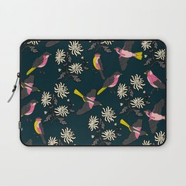Pink Birds and Flowers Laptop Sleeve
