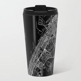 Dubai Black Map Travel Mug