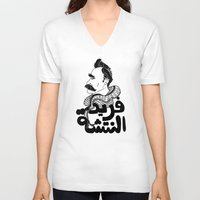 nietzsche V-neck T-shirts featuring Farid Al Natsheh / Friedrich Nietzsche by Sardine