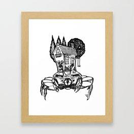 House Crab Framed Art Print