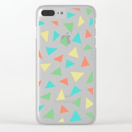 happy triangles Clear iPhone Case