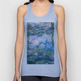Water Lilies Monet Teal Unisex Tank Top