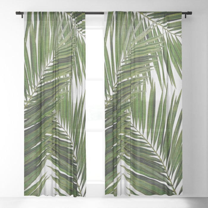 Palm Leaf III Sheer Curtain