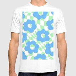 Checkered Floral  T-shirt