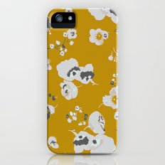 mustard poppies iPhone (5, 5s) Slim Case