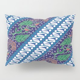Indonesian combination batik with dominant blue color Pillow Sham