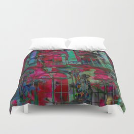 Psychedelic windows Duvet Cover