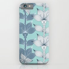 WHITE AND BLUE FLOWERS iPhone 6s Slim Case