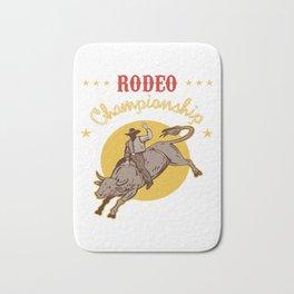Bull Riding Rodeo Championship Cowboy Gift Wild West Bath Mat