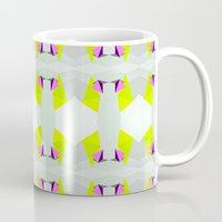 polygon Mugs featuring Polygon Neon by ARTDROID