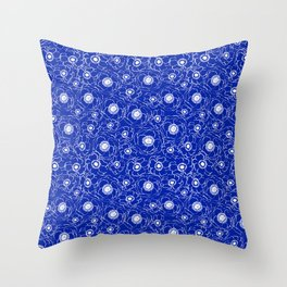 Florida fan gators university orange and blue team spirit football college sports florals dots Throw Pillow