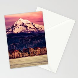Mt Hood on Columbia River Stationery Cards