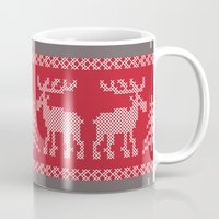 sweater Mugs featuring Sweater Weather by K&C Design
