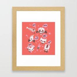 punky pets by unPATO Framed Art Print