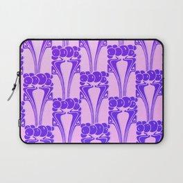 Purple,Art nouveau, pattern,floral pattern, belle époque,victorian,elegant,chic,modern,trendy,beauti Laptop Sleeve
