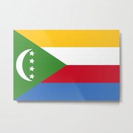Comoros Flag Metal Print