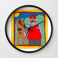 blackhawks Wall Clocks featuring Sooner by GOONS