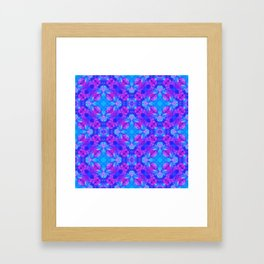 Hand drawn seamless pattern with folk national motives. Bright colored abstract wallpaper. Seamless Framed Art Print