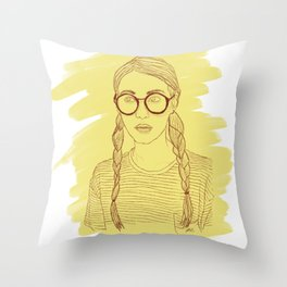 Ms Sunshine Throw Pillow