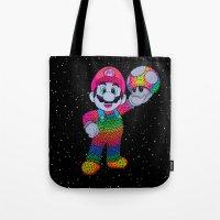 mario bros Tote Bags featuring Mario Bros by Luna Portnoi