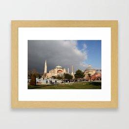 Clouds Over Hagia Sofia Framed Art Print