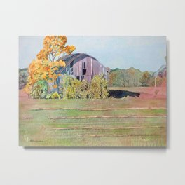 Autumn Michigan Barn Metal Print