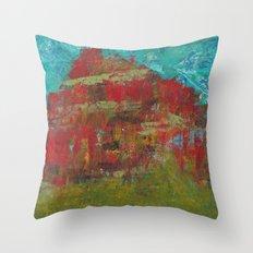 Red Mountain Throw Pillow