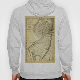 State of New Jersey Map (circa 1795) Hoody