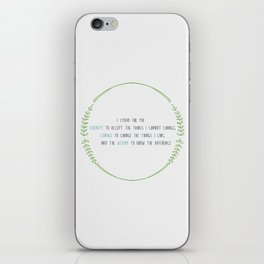 Secular Serenity Prayer iPhone Skin