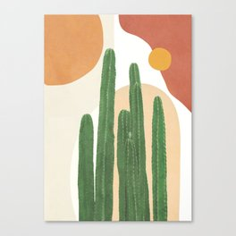 Abstract Cactus I Canvas Print