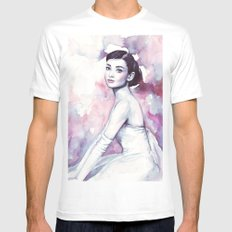 Audrey Hepburn MEDIUM White Mens Fitted Tee