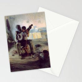 The Banjo Lesson by Henry Ossawa Tanner Stationery Cards