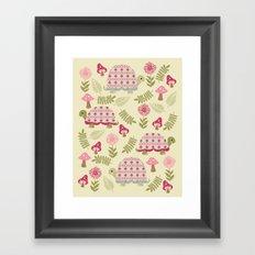 Cheerful Turtles Framed Art Print