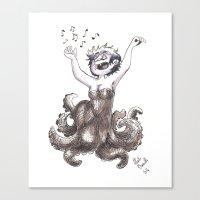 ursula Canvas Prints featuring Ursula by Laeti Vanille