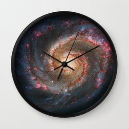 Whirlpool Galaxy and Companion Galaxy Wall Clock