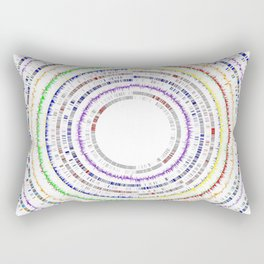 Genome Circles 3 Rectangular Pillow