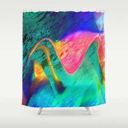 energy overload Shower Curtain