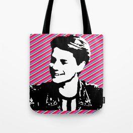 jace norman print art pink stripe Tote Bag