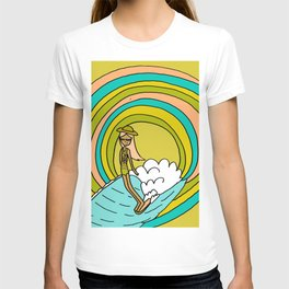 the path to groovy // lady slide by surfy birdy T-shirt