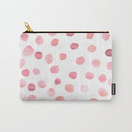 Pink Polka Dots Carry-All Pouch