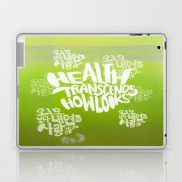 Health Transcends – Lime Laptop & iPad Skin