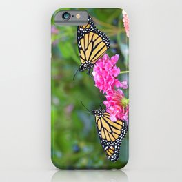 Monarch Butterfly Duet iPhone Case