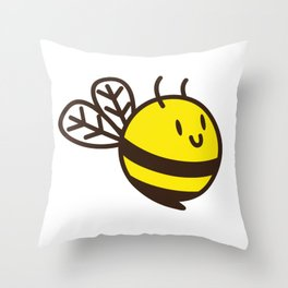 Cuddly Bee Throw Pillow