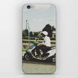 Scooting Along iPhone Skin