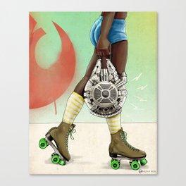 Skate Wars - Rebel Alliance Canvas Print
