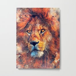 Lion art #lion #animals Metal Print