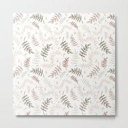 Vanilla Bean Botanical Metal Print