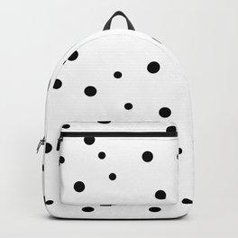 Seamless Black Dots Pattern Backpack