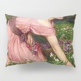 Spring Spreads One Green Lap of Flowers by John William Waterhouse Pillow Sham