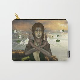 Fairy with flowers Carry-All Pouch